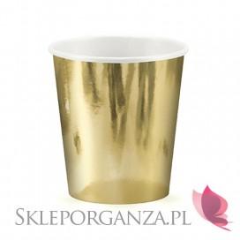 Kubeczki metaliczne złote, 180ml, 6 szt.
