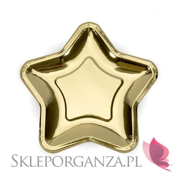 Złoty Talerzyki gwiazdki KOLEKCJA GWIAZDKI ZŁOTE
