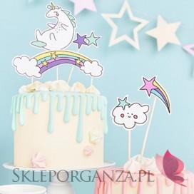 Kolekcja Jednorożec na Baby Shower Toppery na tort KOLEKCJA JEDNOROŻEC