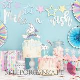Kolekcja Jednorożec na Baby Shower Baner Make a wish KOLEKCJA JEDNOROŻEC
