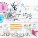 Kolekcja Jednorożec na Baby Shower Rozety dekoracyjne KOLEKCJA JEDNOROŻEC