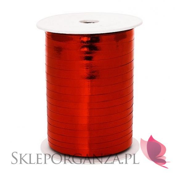 Balony metaliczne Metaliczna wstążka czerwona