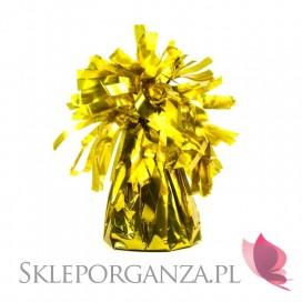Obciążnik do balonów metaliczny złoty