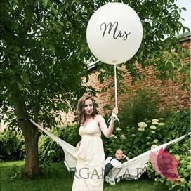 Balony olbrzym Balon olbrzym biały Mrs