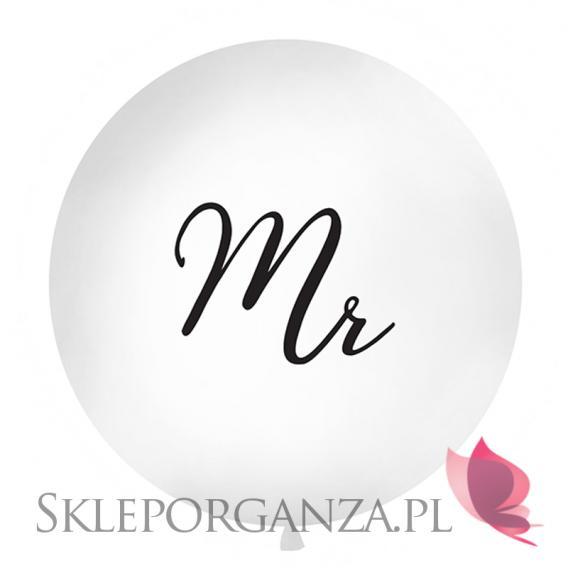 Balony olbrzymy na wesele Balon olbrzym biały Mr