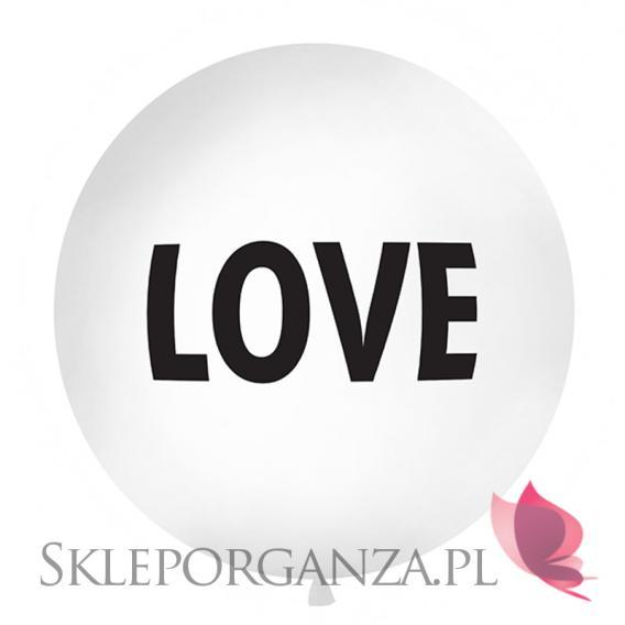 Balon olbrzym biały Love