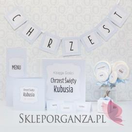 -Litera/znak do baneru CHRZEST KOLEKCJA KROPECZKI NIEBIESKA – PERSONALIZACJA