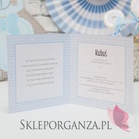 Kolekcja Kropeczki na Roczek -Zaproszenie ROCZEK KOLEKCJA KROPECZKI NIEBIESKA– PERSONALIZACJA