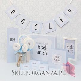 Kolekcja Kropeczki na Roczek Litera/znak do baneru ROCZEK KOLEKCJA KROPECZKI NIEBIESKA – PERSONALIZACJA