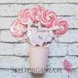 -Lizak różowy KOLEKCJA KROPECZKI RÓŻOWA – PERSONALIZACJA