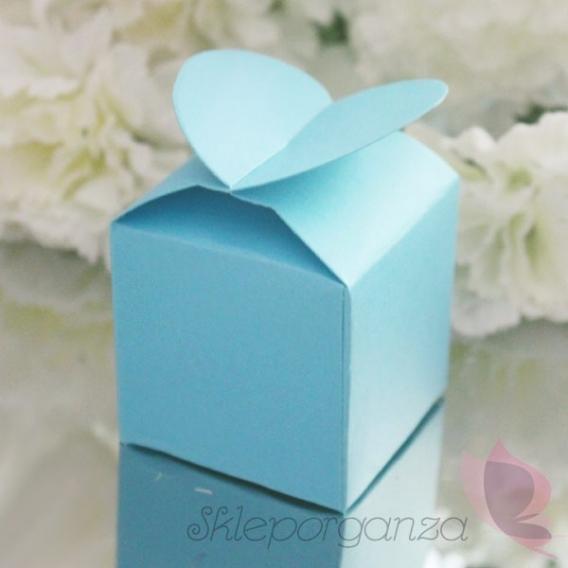 Pudełka Pudełko serce niebieskie