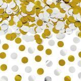 Tuby strzelające MEGA Tuba strzelająca konfetti złote/srebrne kółka 60cm