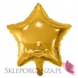 Balon foliowy GWIAZDKA złota 48cm