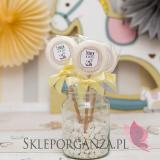 Kolekcja Konik na biegunach na Baby Shower Lizak biały KOLEKCJA KONIK NA BIEGUNACH – PERSONALIZACJA