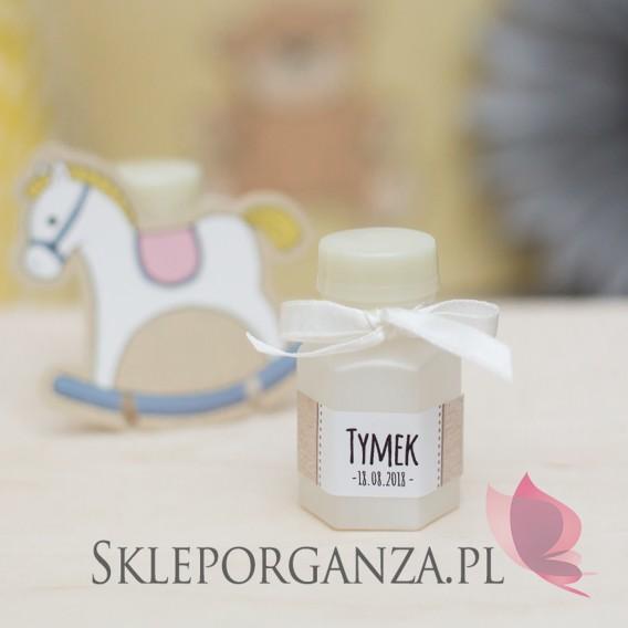 Kolekcja Konik na biegunach na Baby Shower Bańka mydlana buteleczka KOLEKCJA KONIK NA BIEGUNACH – PERSONALIZACJA