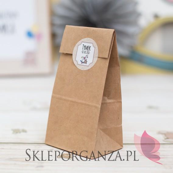 Kolekcja Konik na biegunach na Baby Shower Torebka brązowa KOLEKCJA KONIK NA BIEGUNACH – PERSONALIZACJA