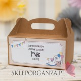 Kolekcja Konik na biegunach na Baby Shower Pudełko na ciasto eko KOLEKCJA KONIK NA BIEGUNACH – PERSONALIZACJA