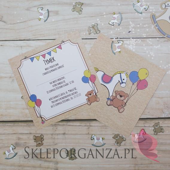 Kolekcja Konik na biegunach na Baby Shower Zaproszenie KOLEKCJA KONIK NA BIEGUNACH – PERSONALIZACJA