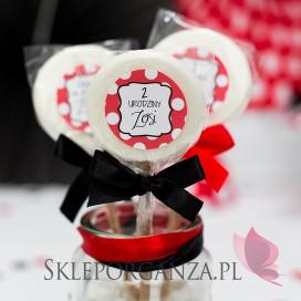 Lizaki urodzinowe personalizowane Lizak biały KOLEKCJA BIEDRONKA – PERSONALIZACJA