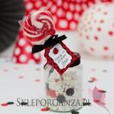 Upominki dla gości na Urodziny personalizowane Lizak czerwony KOLEKCJA BIEDRONKA – PERSONALIZACJA