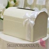 Tekturowe pudełka na koperty ślubne Kuferek na koperty - FLORENCJA