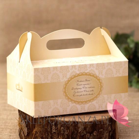 Pudełko na ciasto weselne - Czerwone
