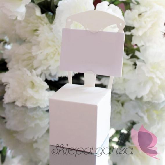 Pudełka Pudełka krzesełka białe, 10szt
