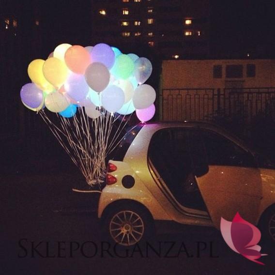 Balony świecące LED kolorowe, 5szt.