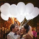 Balony świecące LED białe, 5szt.