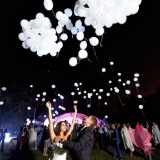 Balony Balony świecące LED białe, 5szt.