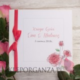 Księgi gości weselnych kwadratowe Księga gości skóra biała - personalizacja kolekcja VINTAGE ROSE