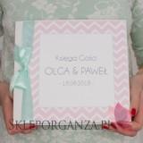 Księgi gości weselnych kwadratowe Księga gości skóra biała - personalizacja kolekcja MODERN