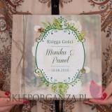Kwadratowe Księga gości płótno naturalne - personalizacja kolekcja WOODLAND