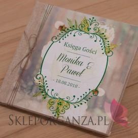 Księga gości płótno naturalne - personalizacja kolekcja WOODLAND