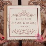 Księgi gości weselnych kwadratowe Księga gości eko - personalizacja kolekcja VINTAGE