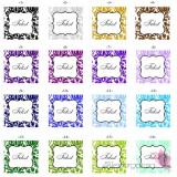 Księgi gości weselnych kwadratowe Księga gości skóra biała - personalizacja kolekcja DAMASK
