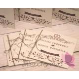 Zaproszenia ślubne Zaproszenie – personalizacja kolekcja - VINTAGE