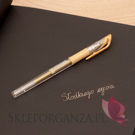 Kwadratowe Długopis żelowy złoty
