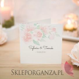 Zaproszenie - personalizacja kolekcja AKWARELE PEONIA