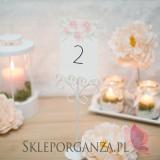 AKWARELE PEONIA na ślub Numery stolików - personalizacja kolekcja AKWARELE PEONIA