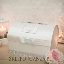 AKWARELE PEONIA na ślub Kuferek na koperty personalizacja kolekcja AKWARELE PEONIA