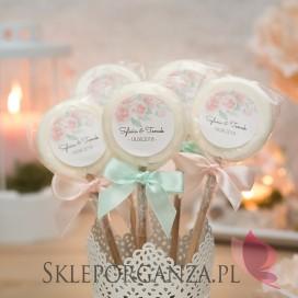 Lizak biały - personalizacja kolekcja AKWARELE PEONIA
