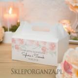 Pudełko na ciasto - personalizacja kolekcja AKWARELE PEONIA