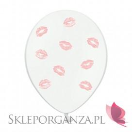 Balony usta j. różowe, 6szt.