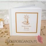 Kolekcja Złota Księga gości skóra biała - personalizacja Kolekcja ZŁOTA
