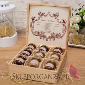 Szkatułki z miodami Personalizowany zestaw miodów w szkatułce - duży