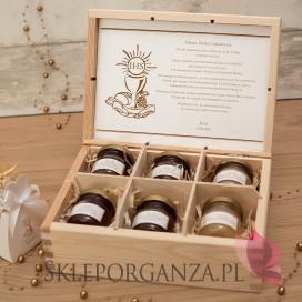 Personalizowany zestaw miodów w szkatułce - średni - Kolekcja ZŁOTA