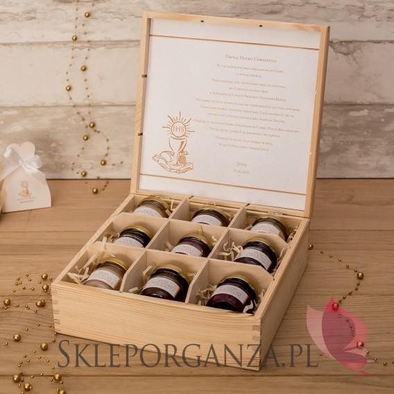 Kolekcja Złota Personalizowany zestaw miodów w szkatułce - duży - Kolekcja ZŁOTA
