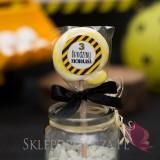 Kolekcja Koparka urodzinowa -Lizak okrągły żółty KOLEKCJA KOPARKA - PERSONALIZACJA
