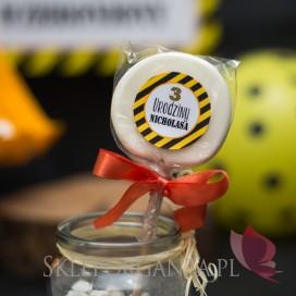 Kolekcja Koparka urodzinowa Lizak biały KOLEKCJA KOPARKA - PERSONALIZACJA